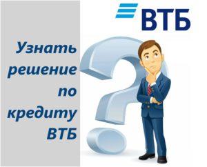 ВТБ 24 статус заявки на кредит
